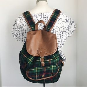 Target Mossimo Flannel Drawstring Backpack